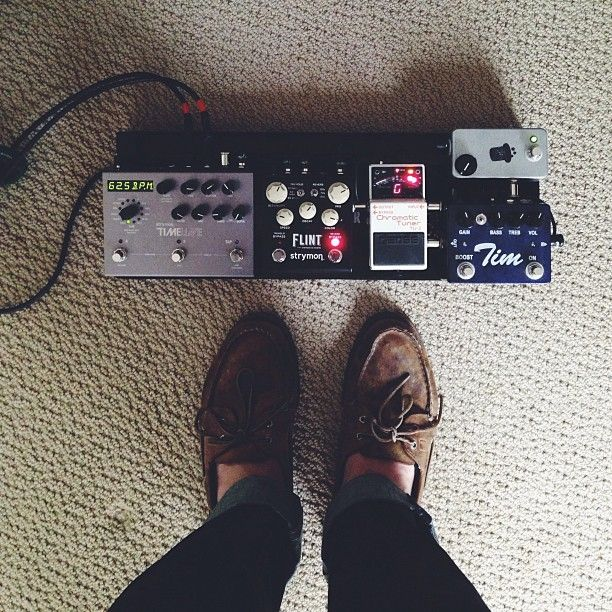 @phcolin's micro pedal board. Sometimes the simplest things are the best.