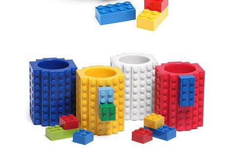 Taza Lego con piezas para armar. contactanos!