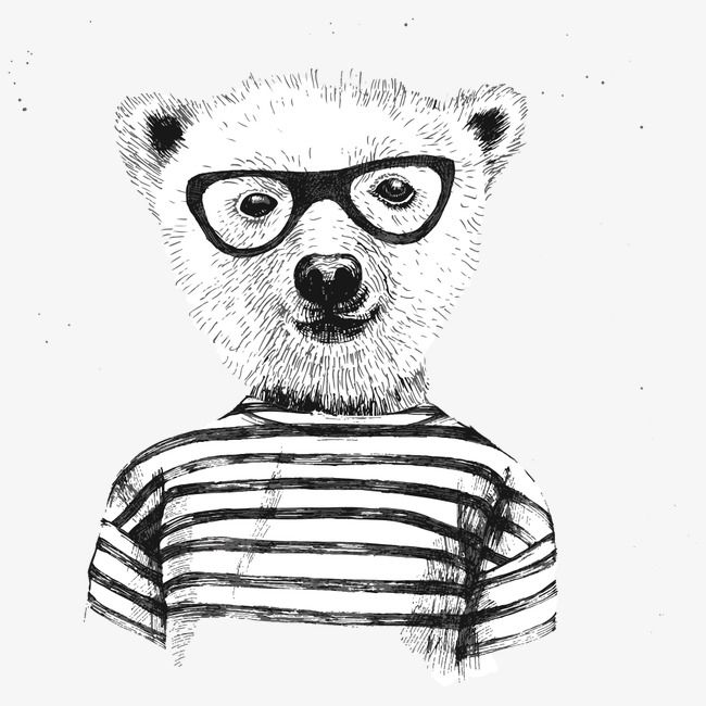 Glasses Teddy Bear Bear Clipart Black And White Glasses Vector Bear Vector Png Transparent Clipart Image And Psd File For Free Download Bear Illustration Cartoon Art Cute Illustration
