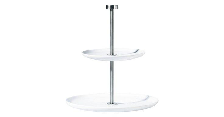 Etagere »à table 2-stufig Weiß«, Porzellan