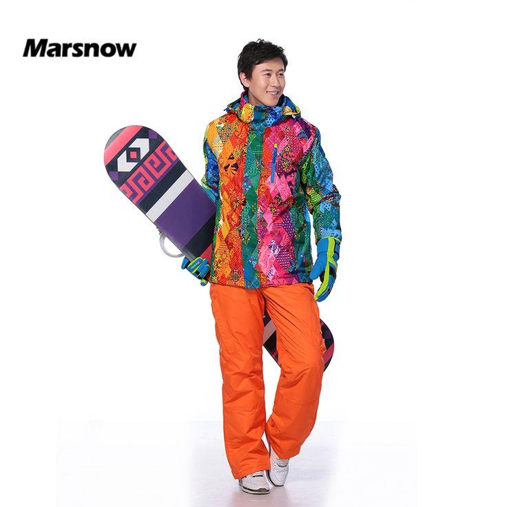 Marsnow Men's <b>Ski Suits</b> Set Warm Snowboard Hooded Jacket+ ...