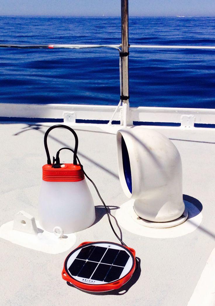 SunBell solar lamp at sea