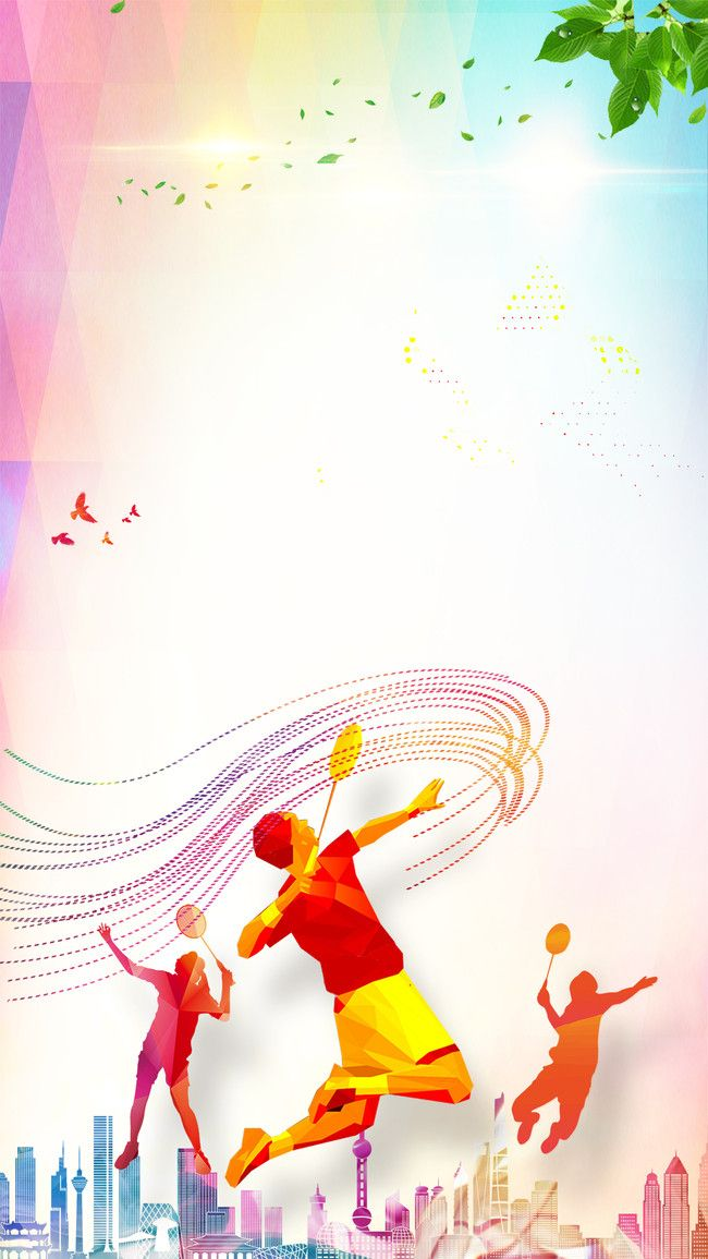 Badminton Fitness Fitness Poster H5 Background Psd Layered ...