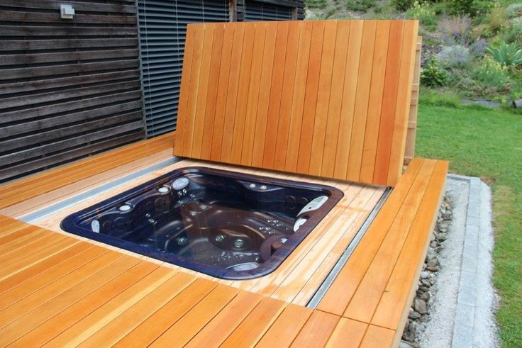 whirldeck halb muschel automatische whirlpool abdeckung hydrops pools pinterest jacuzzi. Black Bedroom Furniture Sets. Home Design Ideas
