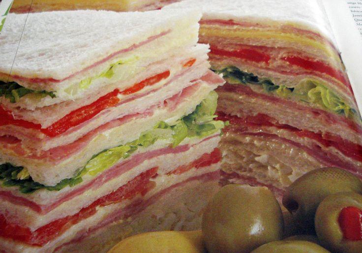 SANDWICHES DE MIGA:   Skinny bread.  Opposite of Italian, totally different taste... very good!