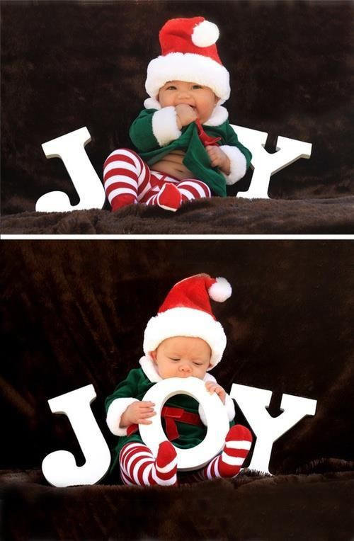 Baby Christmas card ideas <3