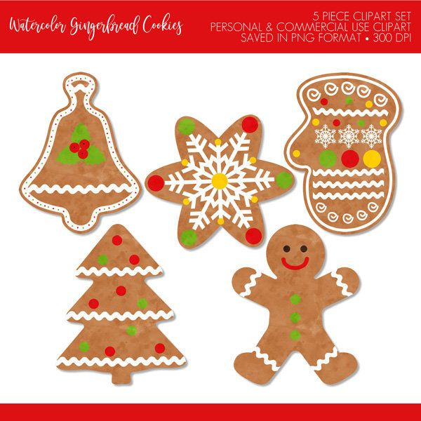 Buy 2 Get 1 Free Watercolor Christmas Cookie Etsy Christmas Clipart Free Christmas Clipart Christmas Watercolor