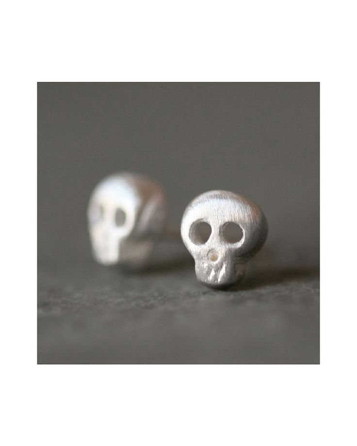 Skull Earrings - is there such a thing as subtle punk rock?