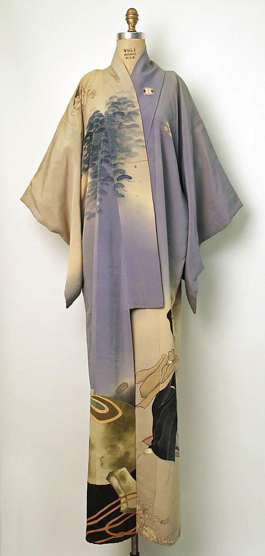 Kimono: second quarter 20th century Culture: Japanese Medium: silk Dimensions: Length at CB: 65 in.  (165.1 cm)  Credit Line: Gift of Mrs. John Steele, 1981