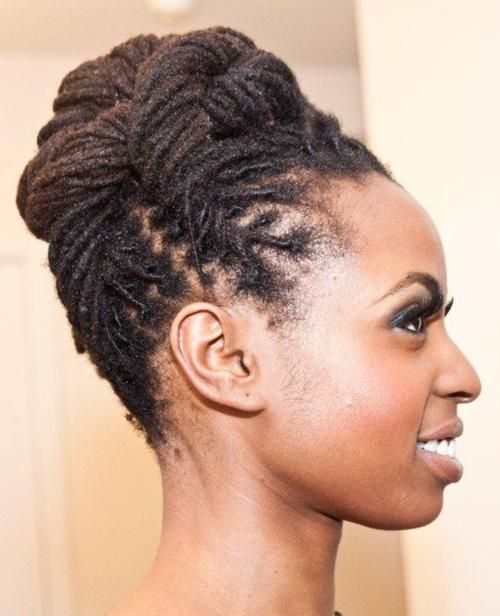 This loc updo would be great for wedding hair. #locstyles