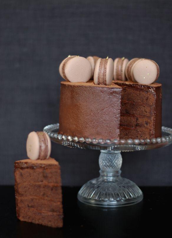 Copenhagencakes Chokoladelagkage med macarons 11