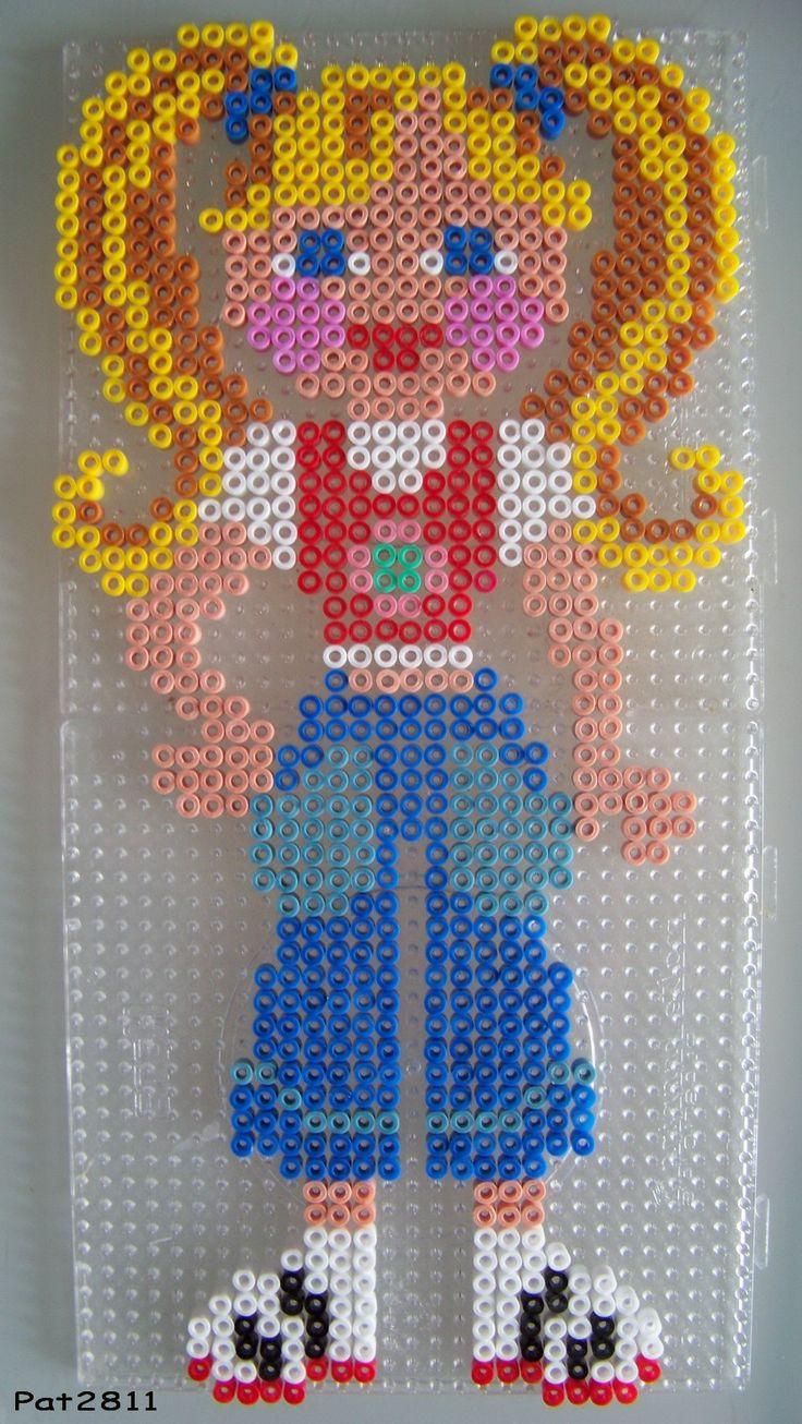 sandylandya@outlook.es  Mädchen Bügelperlen / Girl perler hama beads