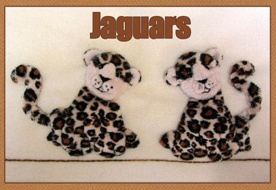 Jaguars Applique Kit (copyright Jan Kerton) available from Australian Needle Arts. To view full range and details please visit http://www.australianneedlearts.com.au/applique-blankets-jan-kerton
