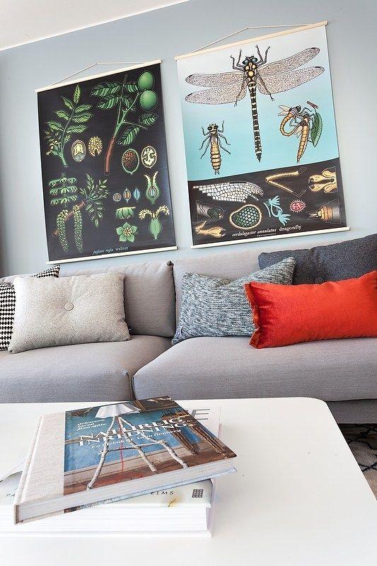 estilo escandinavo en azul grisceo y madera natural suelo tarima paredes grises decoracicn papel