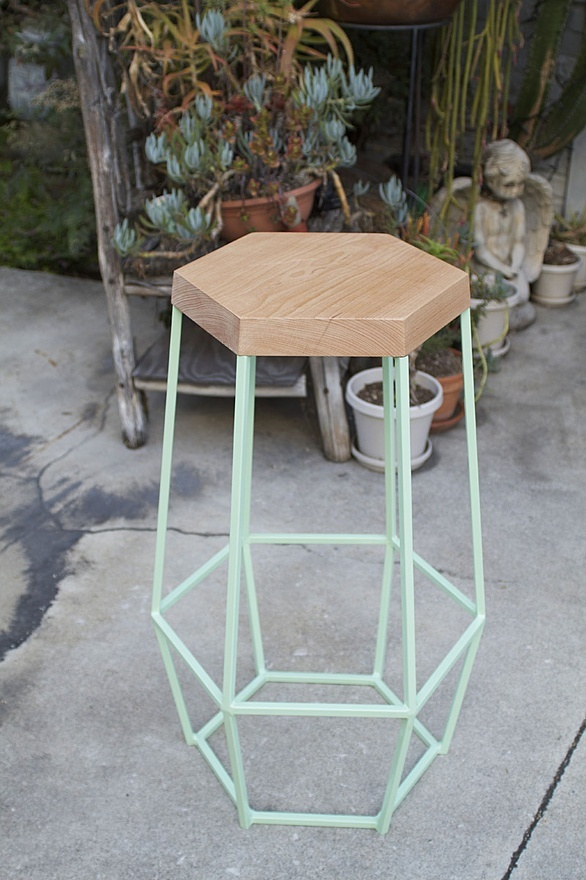 Geometric Bar Stool / WoodSmithe