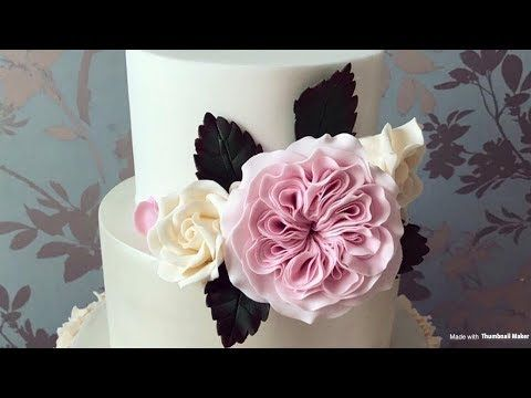 How To Create A Dahlia Using Sugar Paste - YouTube