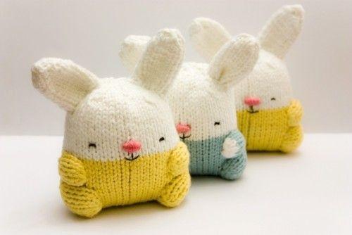 Lapins en tricot - dommage, y a pas le tuto :-/