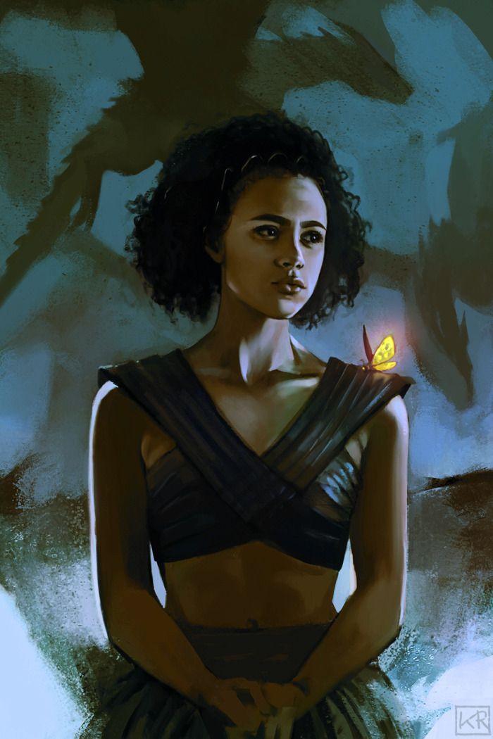 Kittrose Missandei Of Naath Game Of Thrones Art Digital Portrait Fan Art