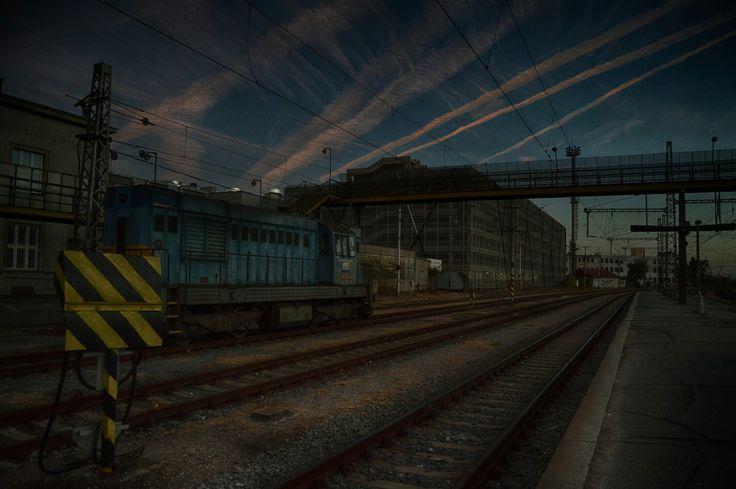 #train #trainstation #hdr #photography #photoshop #nikon #nikond3200 #sky #city #hk #old #steampunk