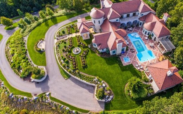 1973 best images about mega mansions on pinterest for Pool design mcmurray pa