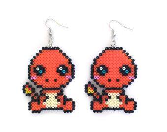 Water Starter Earrings  Geek Earrings / Pixel Gamer Geeky