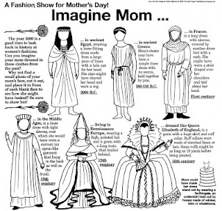 Mostly Paper Dolls: Imagine MOM historical costumes