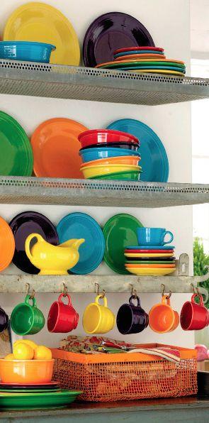fiesta dinnerware. Future kitchen for sure!