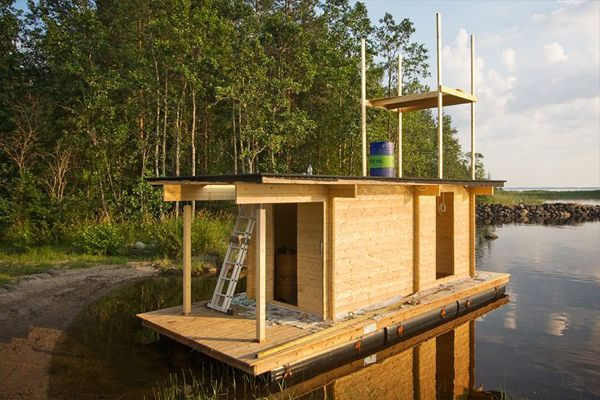 DIY Project: Floating Mobile Sauna Saunalautta - DIY Sauna Raft