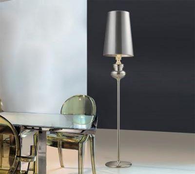 AZzardo Baroco - Golvlampa Silver