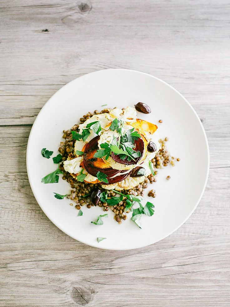 ... stack with lentils + creamy horseradish vinaigrette - The First Mess