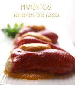 Bocados dulces y salados: Pimientos de piquillo rellenos de gambas y rape