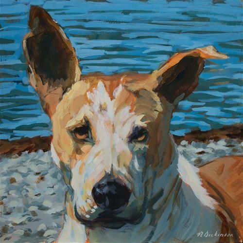 "Daily Paintworks - ""Kira"" - Original Fine Art for Sale - © Nat Dickinson"