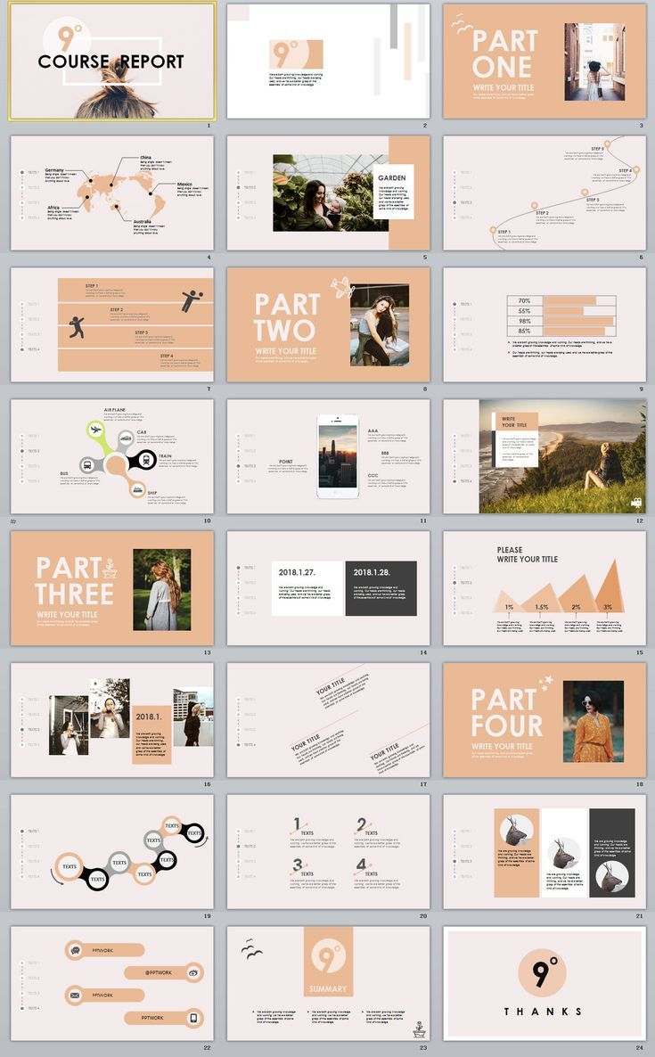business infographic   24  garment company analysis report powerpoint template  powerpoint