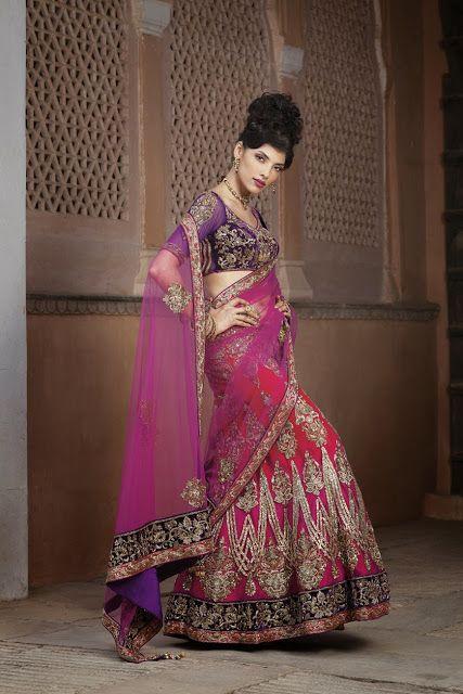#Pink #Designer #Bridal #LehengaCholi