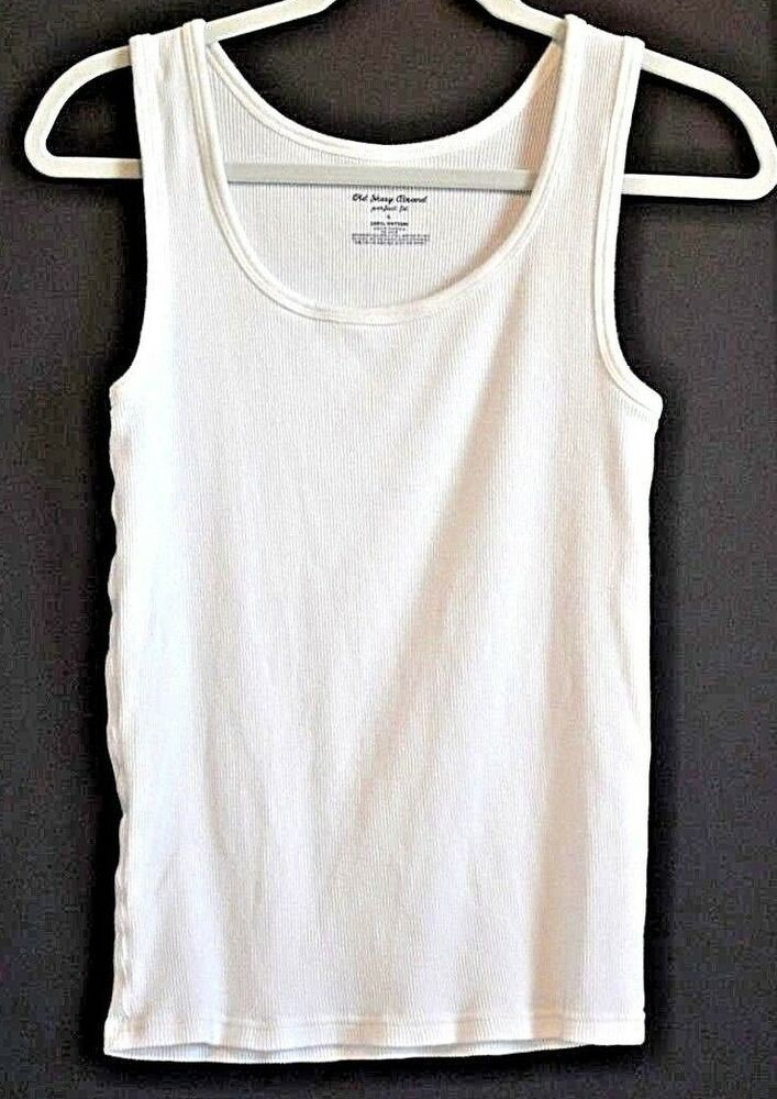 2716de40241dd Old Navy Tank Top Shirt Cami Pullover Size L White Cotton Scoop Neck  Sleeveless  MossimoSupplyCo  TankTop  Casual