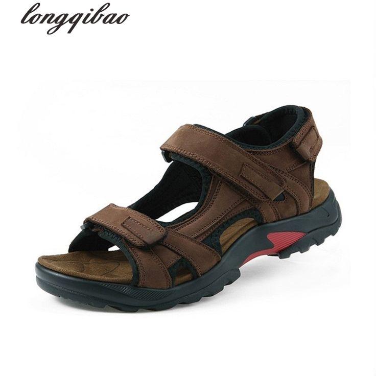 >> Click to Buy << 2017 Top quality sandal men sandals summer genuine leather sandals men outdoor shoes men leather sandals plus size 38-48 #Affiliate