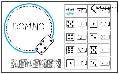 Juf Shanna: Rekenen: domino - getalpatronen tot 6