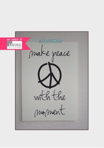 """""""make peace with the moment""""...    Wenn gerade mal wieder alles schiefläuft, Du vor Wut fast platzt, am Liebsten schreien & losheulen magst, klopf ..."""