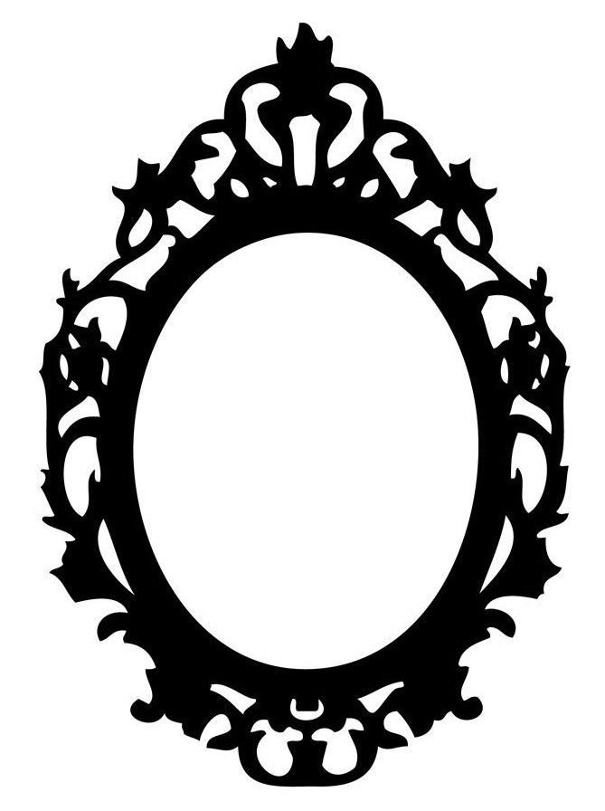 Details About Victorian Frame Vinyl Wall Art Decal
