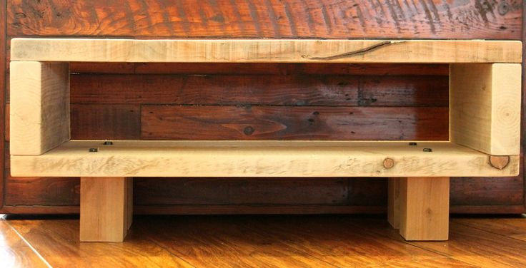 Reclaimed Wooden TV Stand Unit Cabinet ECO Recycled Rustic Natural Wood Scaffold | eBay