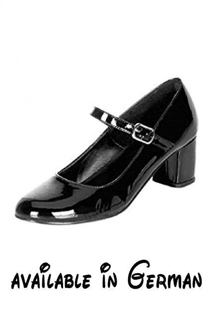 Schulmädchen-Schuhe - Schoolgirl-50 - Lack schwarz Gr. 36. Absatzhöhe von 5 cm #Shoes #SHOES