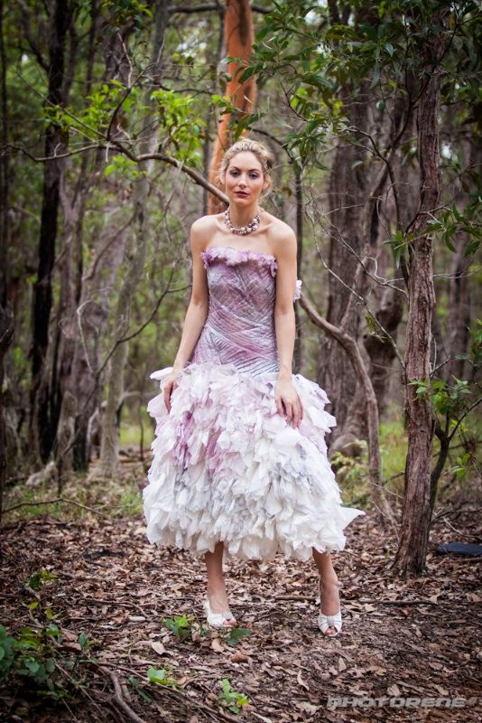Wedding Gown made from paper Napkins #hoskindesigns #art #creative #wedding #bridal #gown #dress