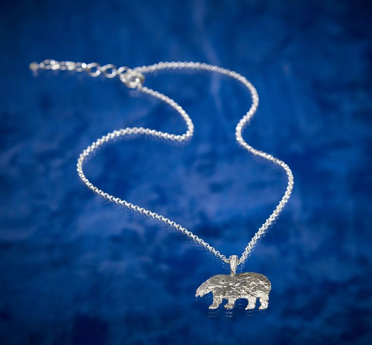 Perfect Gift for the animal lover...Large Polar Bear on Chain from the Tundra Creatures Collection by Arctic Ice Jewels and 5% goes towards efforts to save the Arctic.