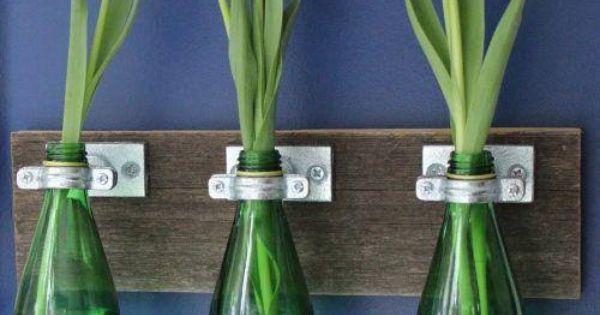 Ideias para Reciclar Garrafas de Vidro CONFIRA: http://ift.tt/1n1ywJT | Alaa | Pinterest | Photos