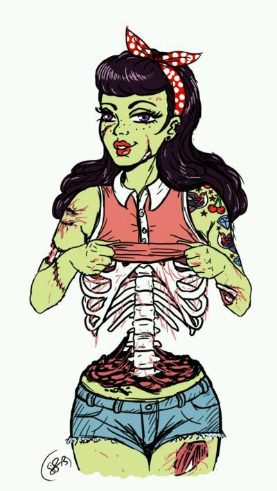 Zombiebabe This is a literal image of how I feel I look when I lift my top...weird!