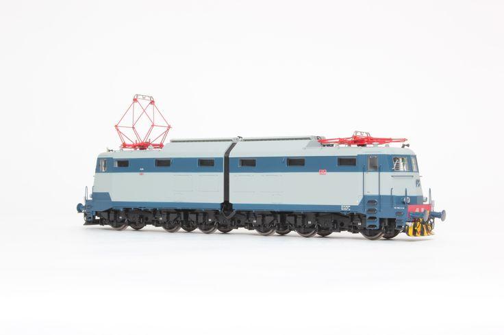 HL2615 Locomotiva Elettrica FS E.636.080 Livrea blu orientale/grigio perla con logo FS blu. Ep. Va. Dep. Bolzano.