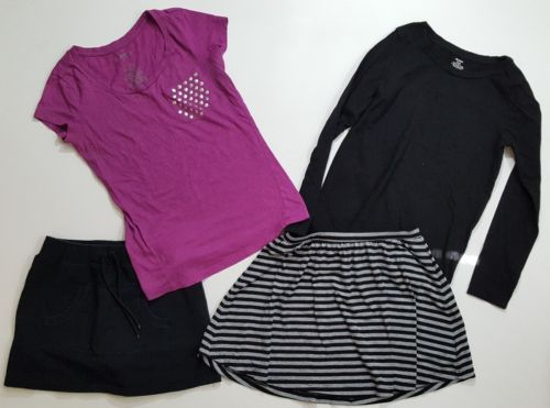 4-Piece-Lot-of-Girls-Skirt-Shirt-Old-Navy-Circo-Miley-Max-Clothes-Sz-10-12