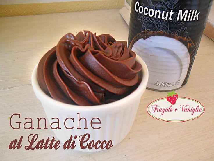Questa ganache al latte di cocco è una golosa variante a quella più classica con panna.Una crema adatta a una cucina vegana o per intolleranze al latte.