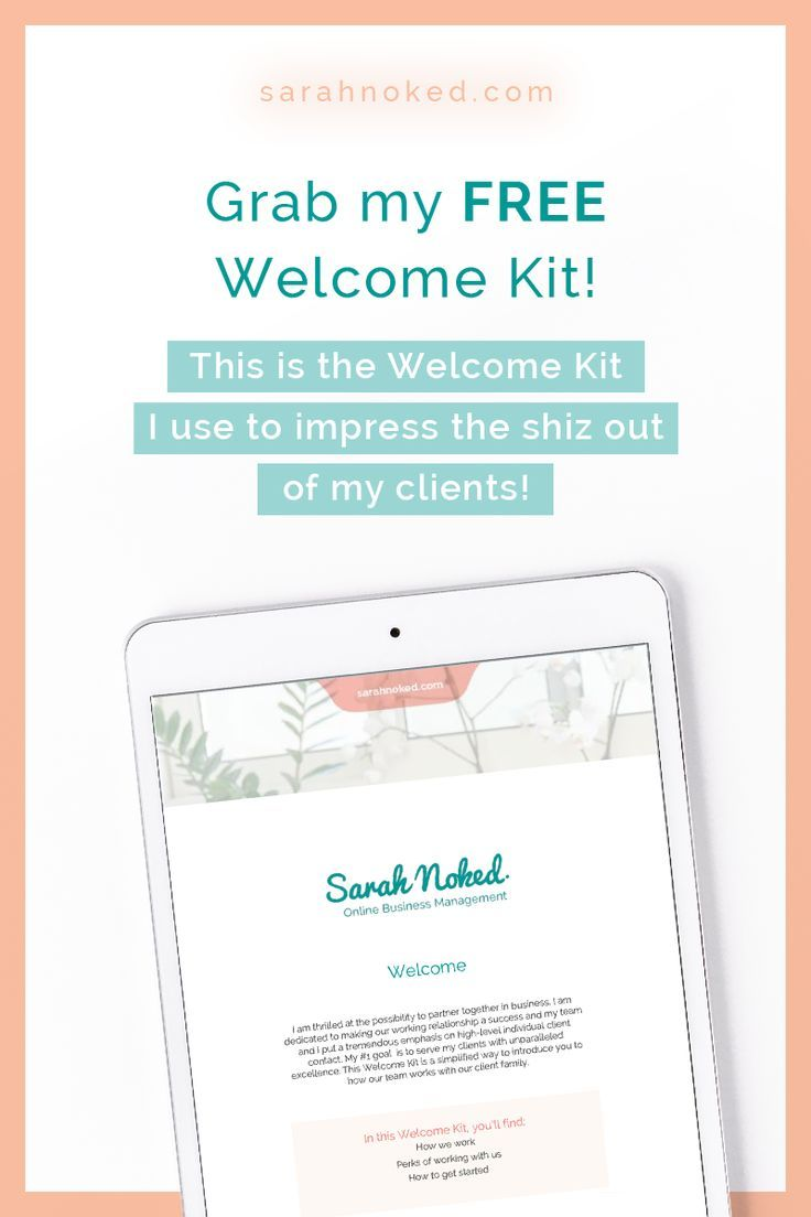Welcome Kit With Images Discovery Call Business Management