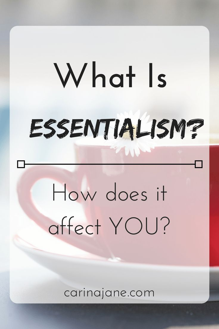 What Is Essentialism